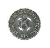 Vintage Kenosha Motor Coach Lines Inc. Token. Good For One Fare Kenosha, Wi