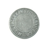 Vintage Miss. Valley Public Service Co. Token. Good For One Fare LaCrosse,