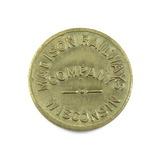Vintage Madison Railways Company Wisconsain Token. School Children Only Mad