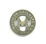 Vintage Madison Railways Co. Token. Good For One Fare Madison, Wis. Atwood/
