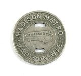 Vintage Madison Metro Token. Good For One Fare Madison, Wis. Atwood/Coffee