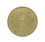 Vintage Manitowoc Transit System (MTS) Token. Good For One School Fare Mani