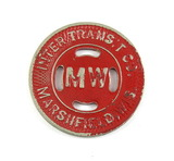 Vintage Inter Transit Co. Marshfield, Wis. (MW Red Paint) Token. Good For 1