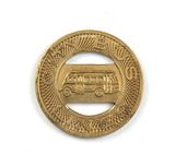 Vintage City Bus Lines Token. Good For One Fare Stevens Point, Wis. Atwood/