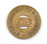 Vintage Sturgeon Bay Transit Inc. Token. Good For One Child's Fare Sturgeon