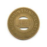 Vintage Wisconsin Transit Token. Good For One Child's Fare Watertown, Wis.