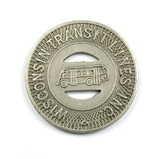 Vintage Wisconsin Transit Inc. Token. Good For One Adult Fare Watertown, Wi