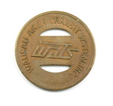 Vintage Wausau Area Transit System Inc (WATS) Token. Good For One Fare Waus