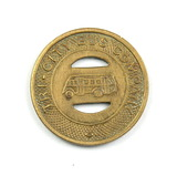 Vintage Tri-City Bus Company Token. Good For One Fare Wisconsin Rapids, Wis