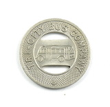 Vintage Tri-City Bus Company Token. Good For One City Fare Wisconsin Rapids