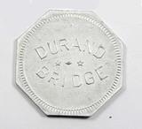 Vintage Durand Bridge Token. Durand, Wis. Atwood/Coffee WI 170-B  1-1-8