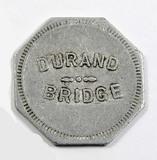 Vintage Durand Bridge Token. Durand, Wis. Atwood/Coffee WI 170-C  1-1-8