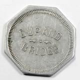 Vintage Durand Bridge Token. Durand, Wis. Atwood/Coffee WI 170-D  1-1-8
