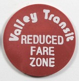 Vintage Valley Transit Token. Reduced Fare Zone Appleton, Wis. Atwood/Coffe