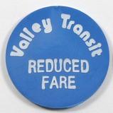 Vintage Valley Transit Token. Reduced Fare Appleton, Wis. Atwood/Coffee WI