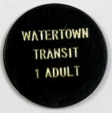 Vintage Watertown Transit 1-Adult Token. Watertown, Wis. Atwood/Coffee WI 9