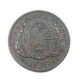 1844 Half Penny Bank Token Province of Canada Bank of Montreal. Concordia S