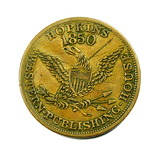 Vintage Hopkins 1850 Western Publishing House Coin/Token. I.A. Hopkins Book