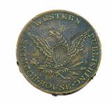 Vintage 1850's Hopkins Western Publishing House Coin/Token. I.A. Hopkins Bo