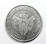 1986 Biloxi Mardi Gras Token Rulers and Realms. Aluminum. Reverse Reads: 19