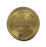 Souvenir of Rainbow Farm Show Coin/Token. Rainbow Premium Plant Food top Yi