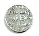 Vintage Ostby & Barton Co. Seamless Gold Shell Trade Mark O-B Coin/Token. R
