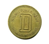 Vintage Norski Power Wash DeForest Wisconsin Coin/Token. Carwash Non Refund