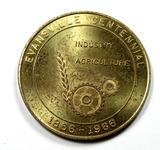 1966 Evansville Centennial 1866-1966 Coin/Token. Souvenir Half Dollar Redee