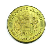 Good Luck Podner with horseshoe Coin/Token. Pleasure Island Eagle River Wis