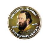 Colorized 2012 UNC Clad Kennedy Half Dollar Stonewall Jackson 1824-1863 Con