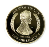 Life of Abraham Lincoln Commemorative Coin Life and Legacy 1809-1865