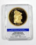 American Mint Limited Edition Replica of 1796 Turban Head Quarter Eagle. Hi