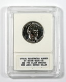 2008 James Monroe Dollar .999 Fine Silver