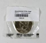 1971-S Silver Clad Eisenhower Dollar UNC Condition.