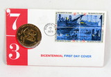 1973 Bicentennial First Day Cover Commemorative Medal