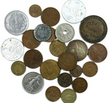 (24) Misc Vintage Foreign Coins