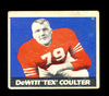 1948 Leaf Football Card #42 DeWitt Coulter New York Giants.  Has Pin Hole V