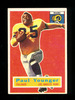 """1956 Topps Football Card #18 Paul """"Tank"""" Younger Los Angeles Rams. EX/MT Co"""