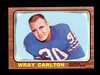 1966 Topps Football Card #21 Wray Carlton Buffalo Bills. EX/MT Condition.