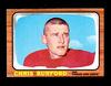 1966 Topps Football Card #66 Chris Burford Kansas City Chiefs. EX/MT Condit