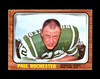 1966 Topps Football Card #100 Paul Rochester New York Jets. EX/MT Condition