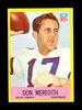 1967 Philadelphia Football Card #57 Don Meredith Dallas Cowboys. Creased EX