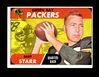1968 Topps Football Card #1 Hall of Famer Bart Starr Green Bay Packers. EX/