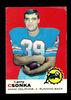 1969 Topps ROOKIE Football Card #120 Rookie Hall of Famer Larry Csonka Miam