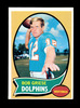 1970 Topps Football Card #10 Hall of Famer Bob Griese Miami Dolphins. NM Co