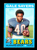 1971 Topps Football Card #150 Hall of Famer Gale Sayers Chicago Bears. EX/M