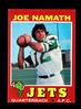 1971 Topps Football Card #250 Hall of Famer Joe Namath New York Jets . NM C