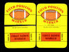 (2) 1971 Topps Game Cards Field Position Markers