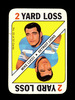 1971 Topps Game Card Mike Lucci Detroit Lions. EX/MT Condition