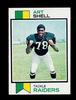 1973 Topps ROOKIE Football Card #77 Rookie Hall of Famer Art Shell Oakland